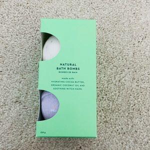 NWT natural bath bombs from Indigo
